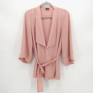 Sparkle & Fade Dusty Pink Belted Cardigan